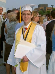 Mikey at his high school graduation